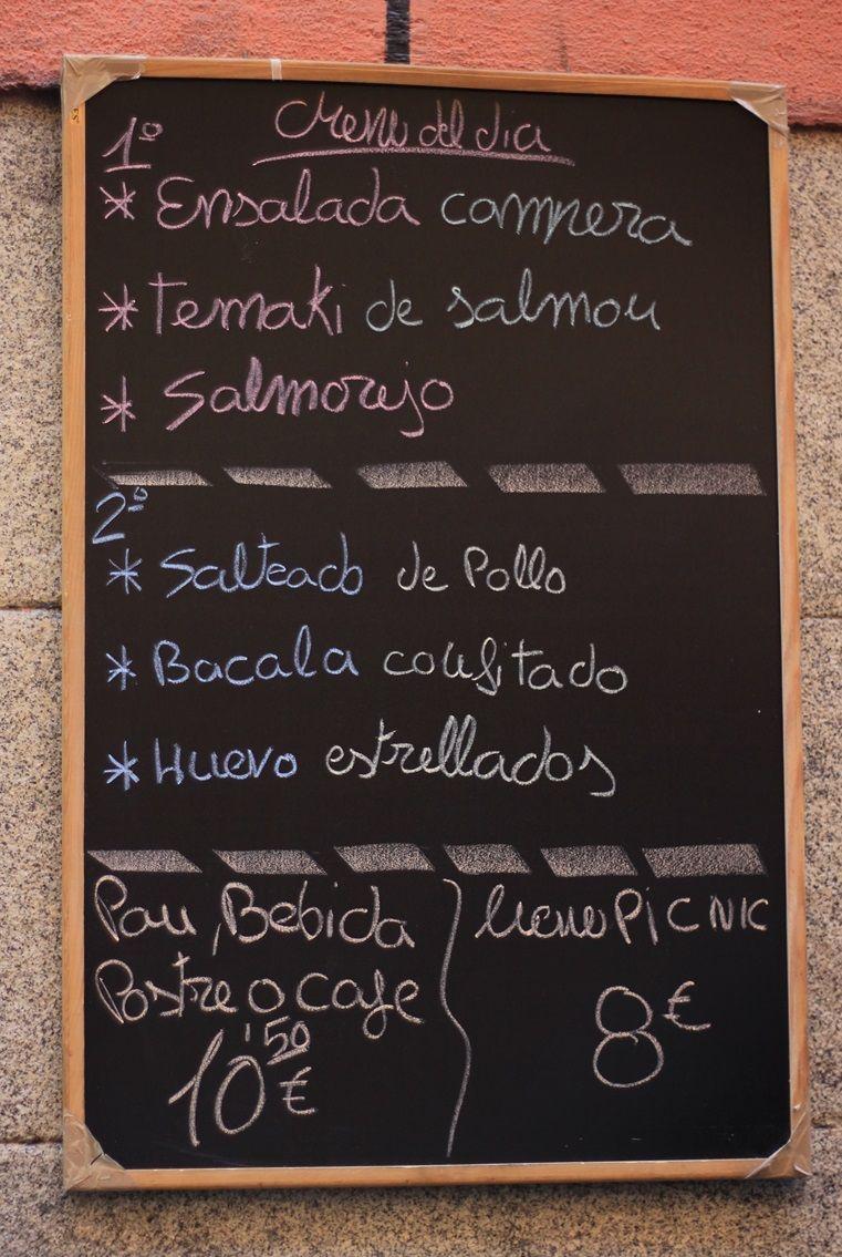 Cartel del menú en A 2 velas | RAQUEL ANGULO