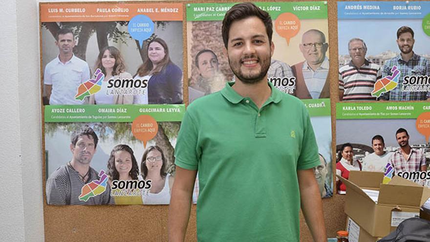 Borja Rubio, cabeza de lista de Somos Lanzarote a Arrecife.  (F. De la Cruz)