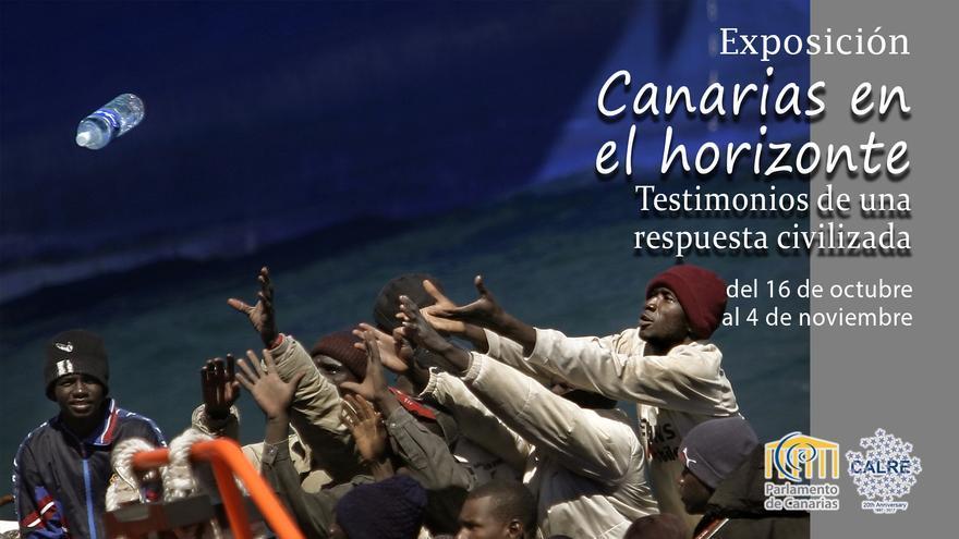 Cartel de la exposición 'Canarias en el horizonte'.
