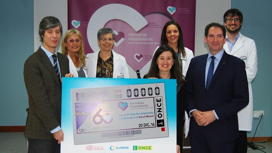 El Centro Hospitalario Padre Menni ilustra 5,5 millones de cupones de la ONCE