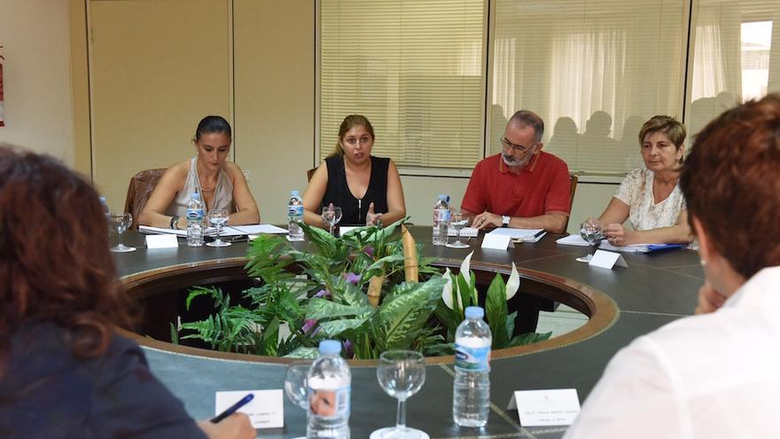 Encuentro entre representantes de la Fecai y el Gobierno de Canarias por la Ley de Servicios Sociales.