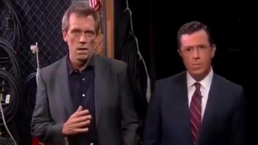 Hugh Laurie y Bryan Cranston bailan al ritmo de 'Get lucky'