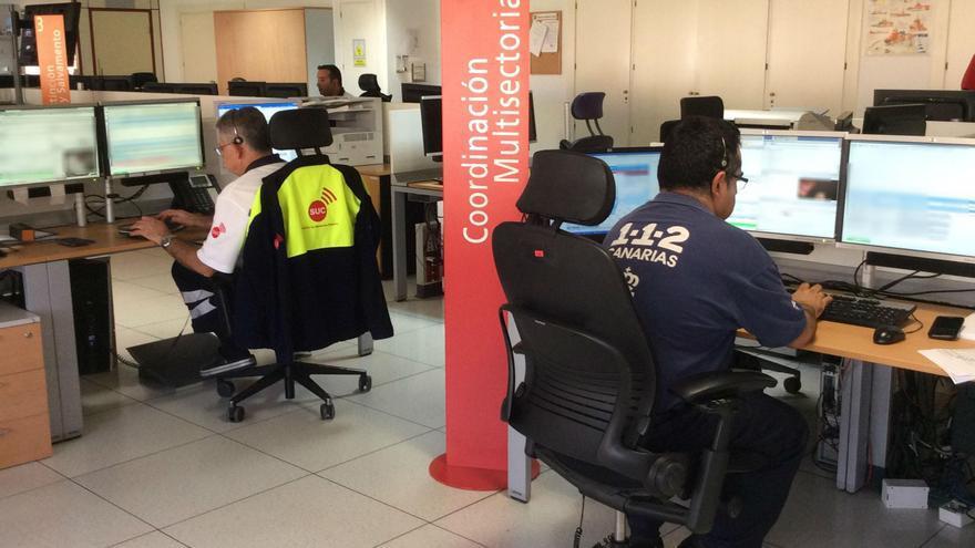 Sala operativa del 1-1-2 Canarias en Santa Cruz de Tenerife.