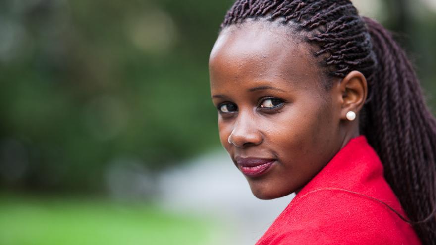 Mireille Twayigira, médica ruandesa en Malaui.