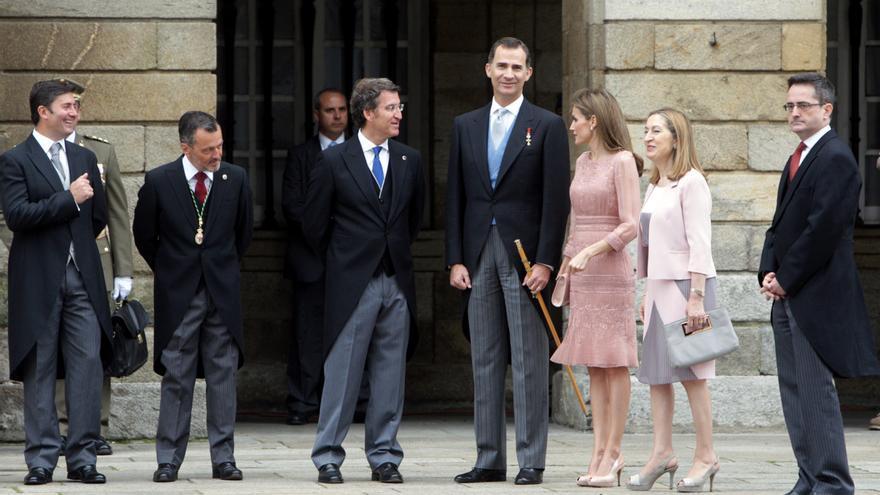 Los reyes, en Santiago de Compostela