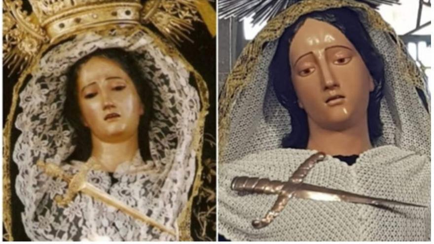 Intervención realizada en la Virgen de los Dolores de la Iglesia de San Juan en Arucas (Gran Canaria)