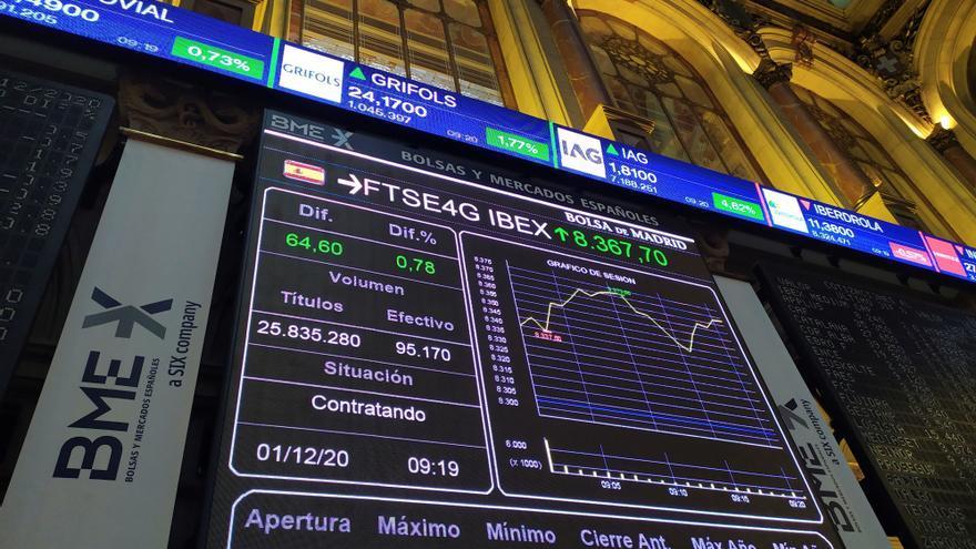 La Bolsa española mantiene ganancias del 0,41 % tras la apertura