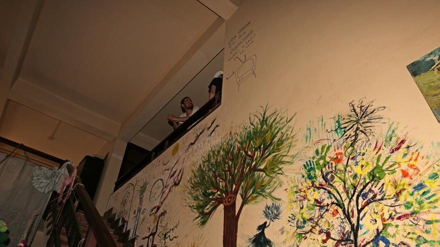 Mural en el Centro Social La Bicicleta (ALEJANDRO RAMOS)