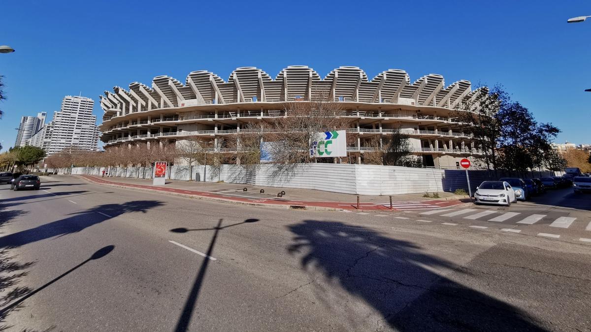 Situación actual del nuevo Mestalla.