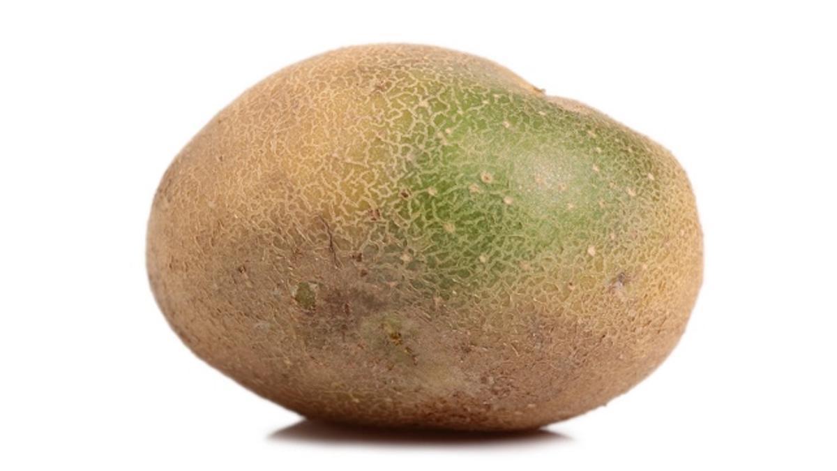 Patata con parte verde rica en solanina