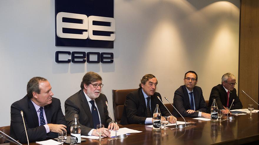 Representantes de las Federaciones de Empresarios de Cuenca, Soria y Teruel