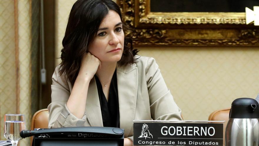 La ministra de Sanidad, Consumo y Bienestar Social, Carmen Montón, en su primera comparecencia en el Congreso