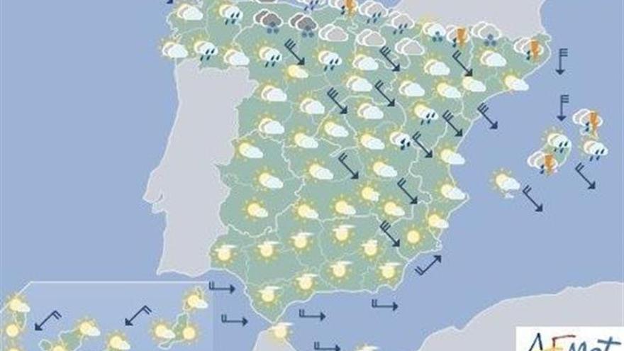Hoy aumentará la inestabilidad en el norte y este y bajará la temperatura