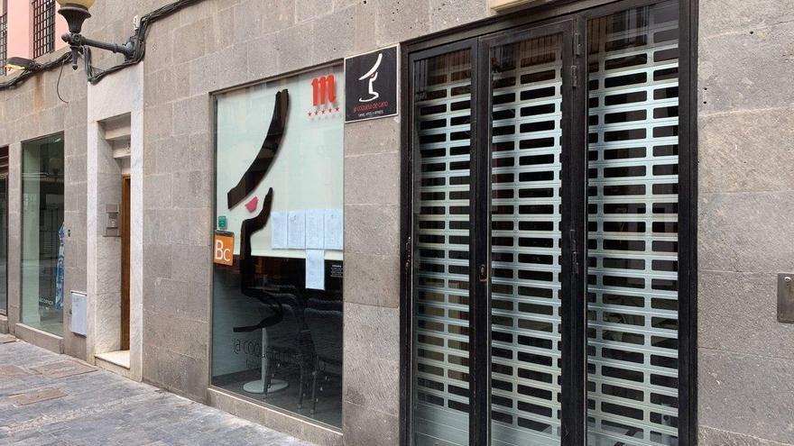 Calle vacía en Las Palmas de Gran Canaria.