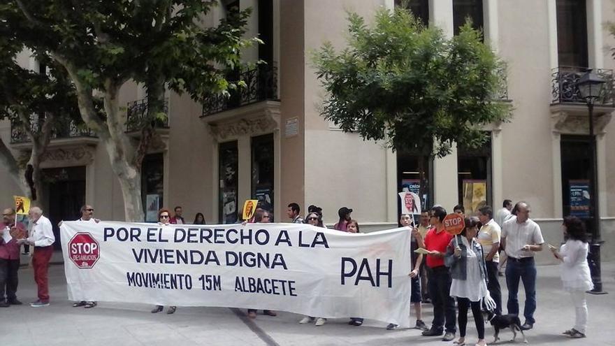 Stop Desahucios Albacete, en foto de archivo