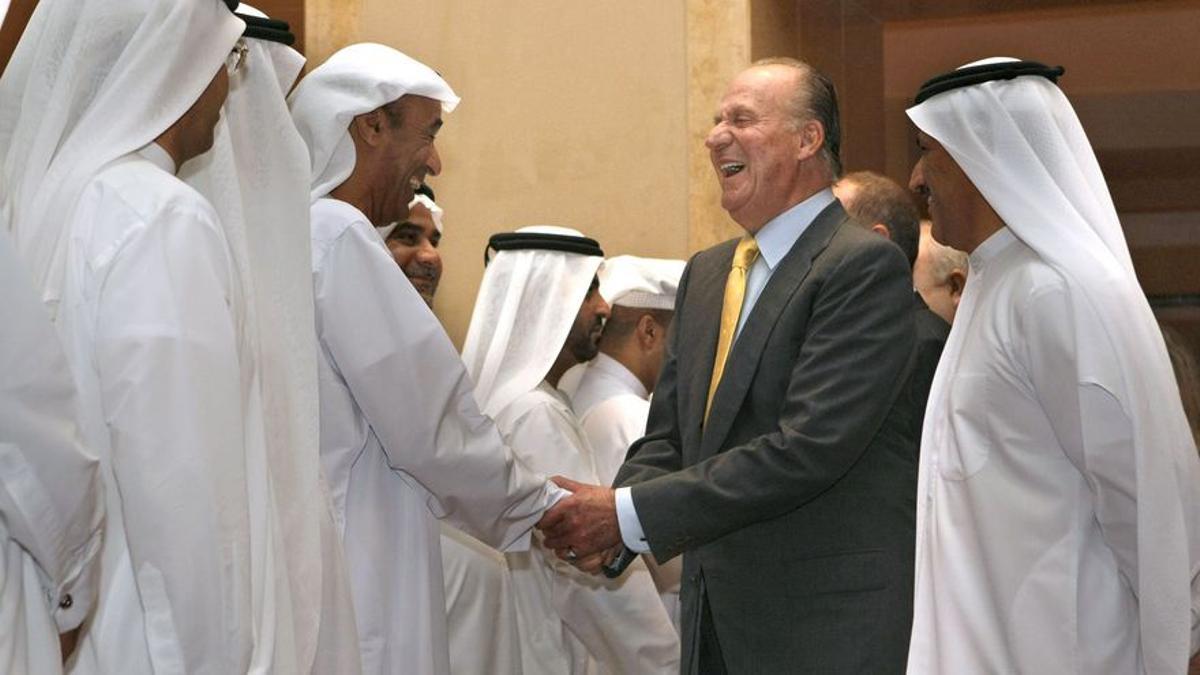 Juan Carlos de Borbón en una visita a Dubai en 2008. EFE