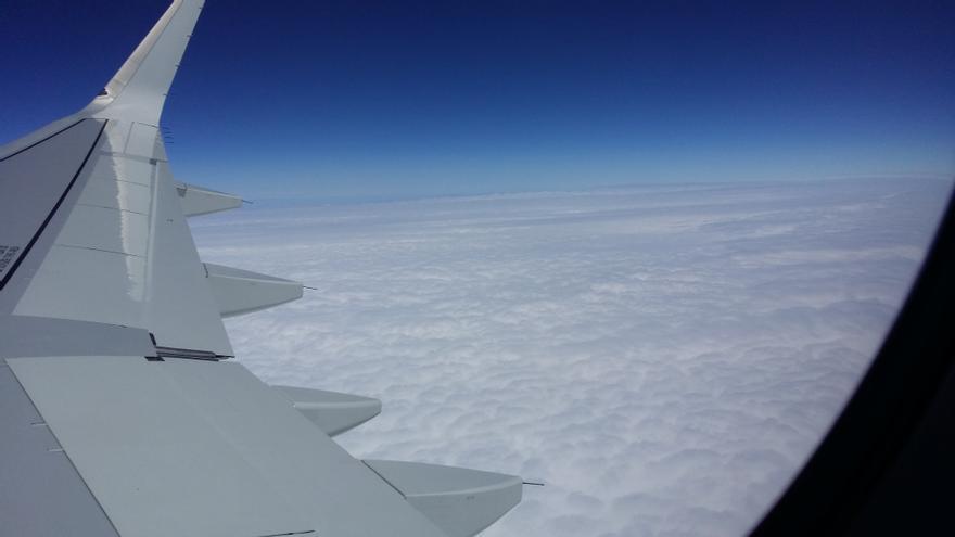 Nubes en pleno vuelo