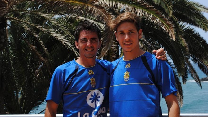 Javi Guerrero, el más veterano y Álvaro Arencibia, el más joven