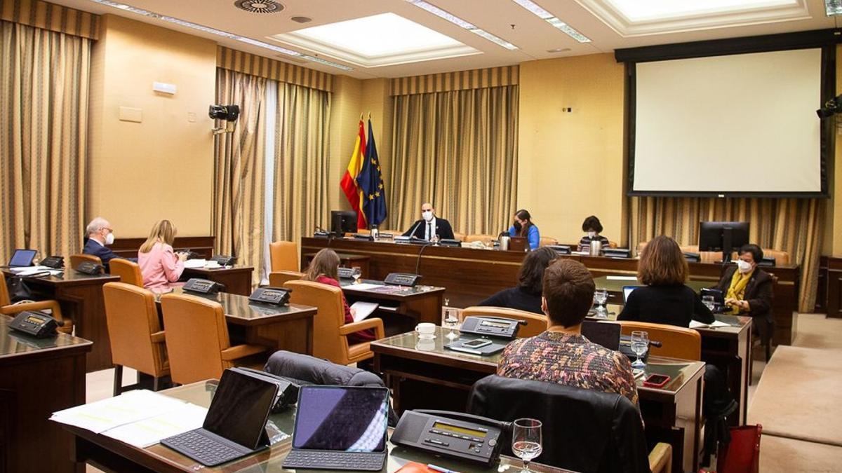 Calle durante su intervención este martes ante la Comisión de Cooperación Internacional para el Desarrollo del Congreso de los Diputados.