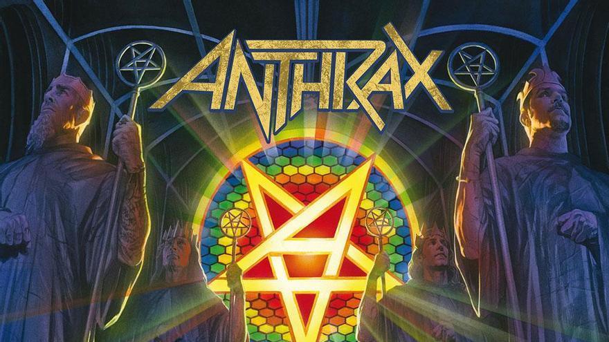 Portada de 'For all kings' de Anthrax.