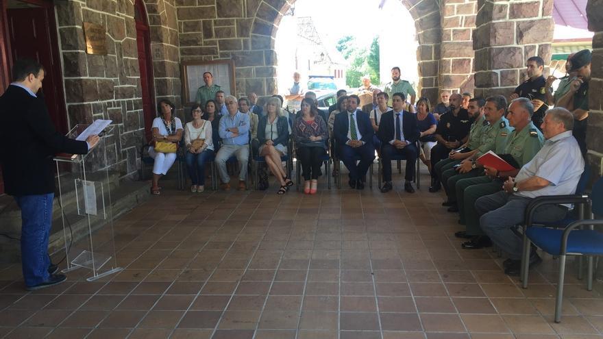 Homenaje en Burguete al guardia civil Juan Antonio García González, asesinado por ETA hace 35 años