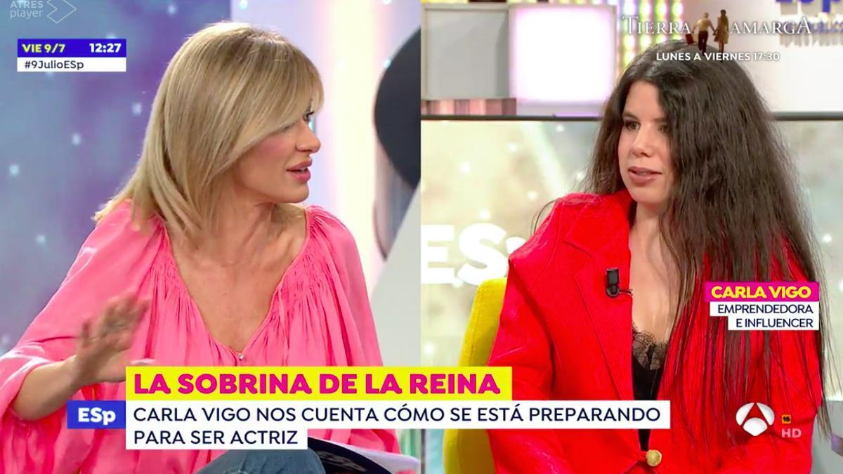 Susanna Griso y Carla Vigo, en 'Espejo Público'