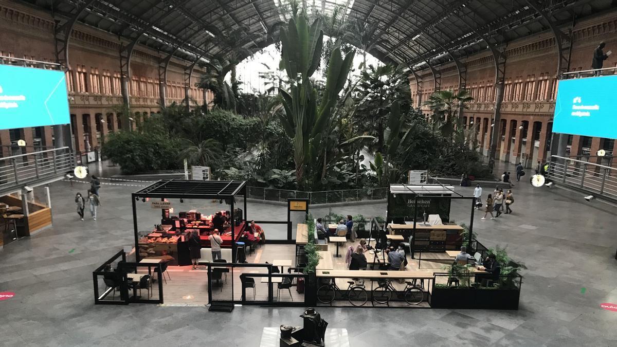 Vista de la estación de Atocha en el primer día sin cierres perimetrales.