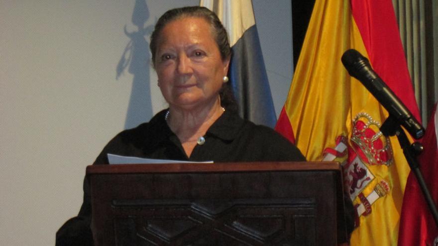 Elsal López hizo una defensa de la mujer escritora en su intervención. Foto: LUZ RODRÍGUEZ