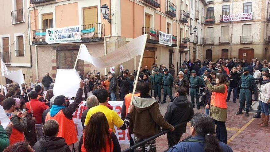 Protesta en Molina de Aragón.