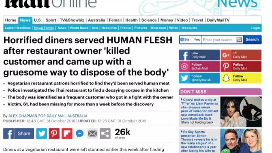 Información del Daily Mail