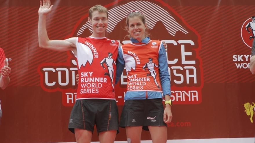 Tom Owens y Laura Orgué, los ganadores de la SkyRace Comapedrosa.