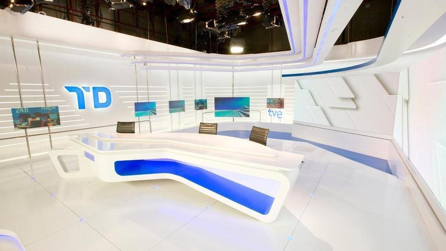 El plató de los Telediarios de TVE
