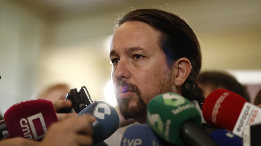 """Pablo Iglesias critica las """"lágrimas de cocodrilo"""" de Huerta y celebra que Sánchez les """"hiciera caso"""" tras pedir el cese"""