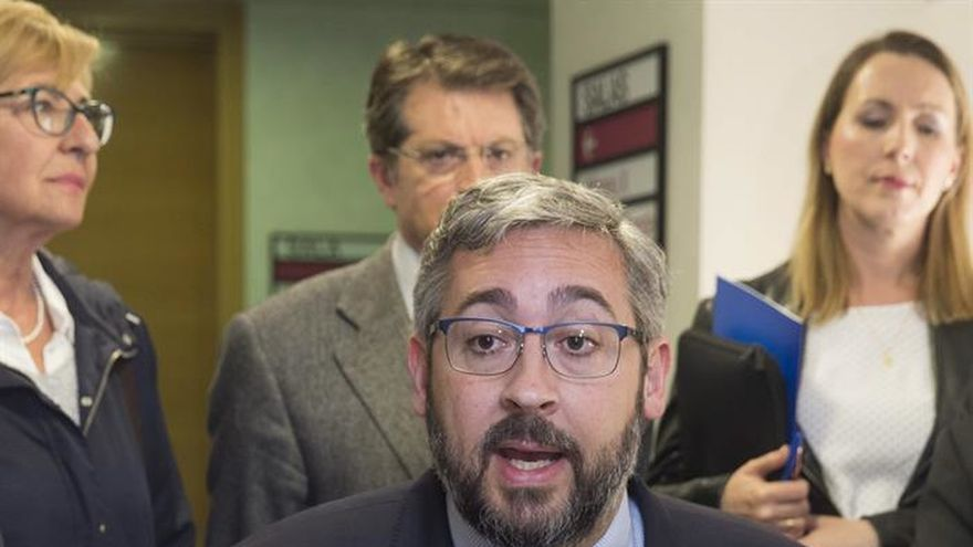 El portavoz del Partido Popular, Víctor Martínez