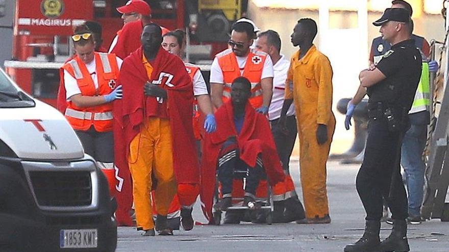 Imagen de archivo del rescate de un grupo de personas que llegó a Gran Canaria en patera en octubre.