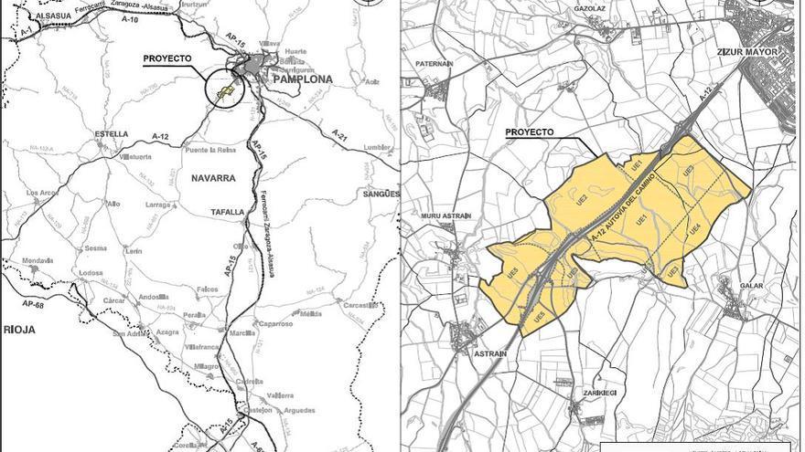 Proyecto de reparcelación de la UE-2 de Guenduláin, diseñada para albergar casi 5.000 viviendas.