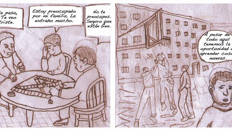 Una de las historias recogidas en la muestra 'Viñetas de libertad' / Foto: cedida.
