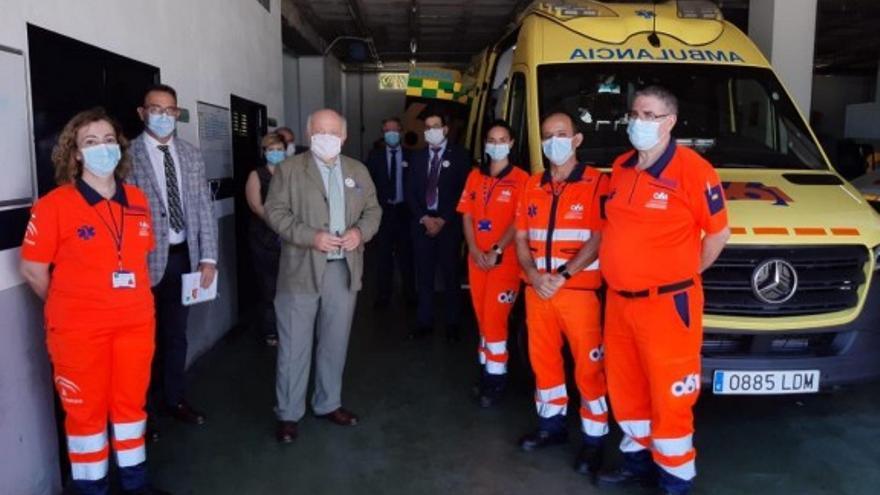 El consejero de Salud, junto al director gerente de EPES, en Málaga el pasado 22 de mayo