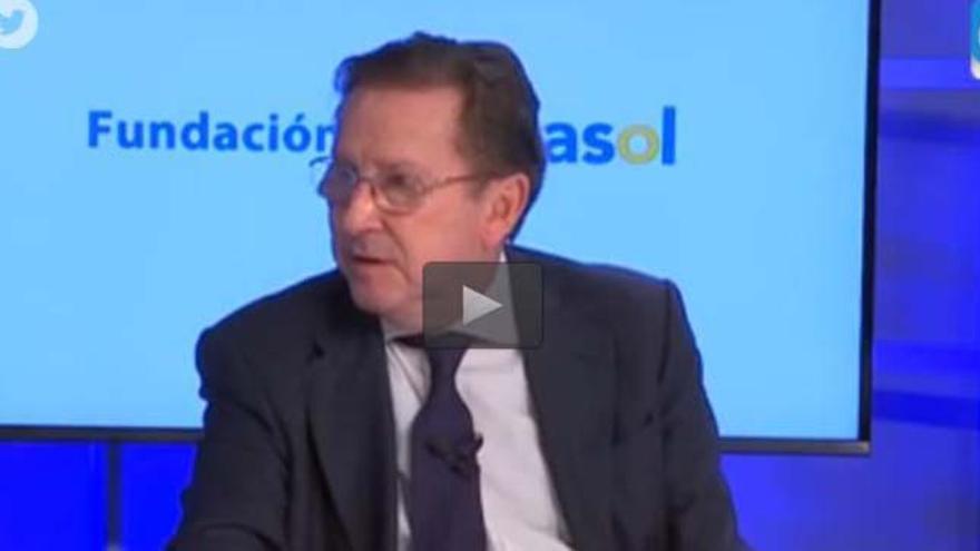 Emilio de Llera durante la entrevista.