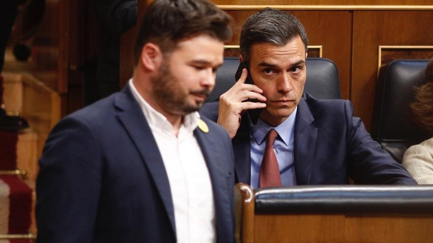 Pedro Sánchez y Gabriel Rufián se reúnen en Moncloa