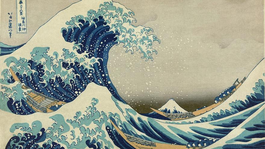 'La gran ola de Kanagawa', grabado nº 1 de 'Treinta y seis vistas sobre el monte Fuji'