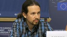 Pablo Iglesias lleva a Estrasburgo críticas al Gobierno por gestión del ébola
