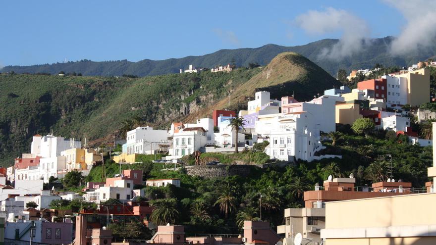 Panorámica del barrio del Calsinas de Santa Cruz de La Palma.