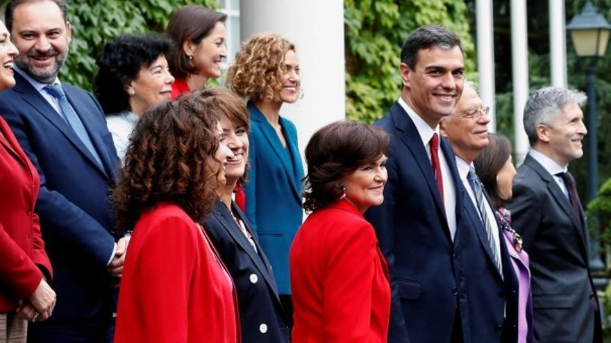 Miembros del primer gobierno de Pedro Sánchez, PSOE. EFE, Chema Moya