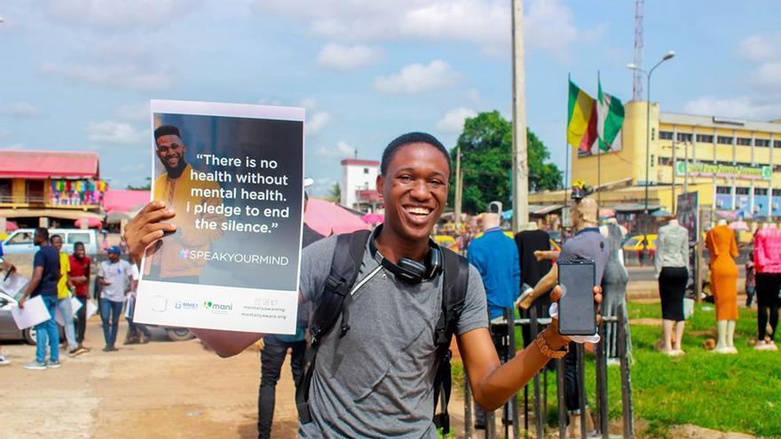 La organización Mani busca desestigmatizar la salud mental en Nigeria.