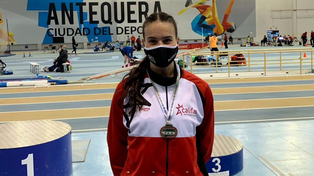 Carmen Avilés, tras su oro en el Andaluz absoluto.