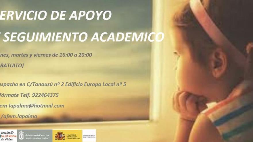 Salud Mental La Palma ofrece un servicio de apoyo y seguimiento académico