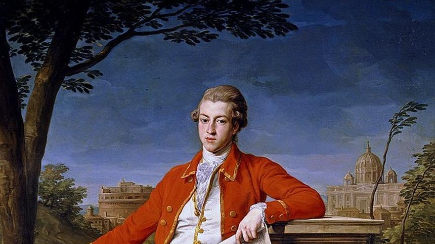 Retrato de Francis Basset, Primer Baron de Dunstanville y Basset, durante su Grand Tour.