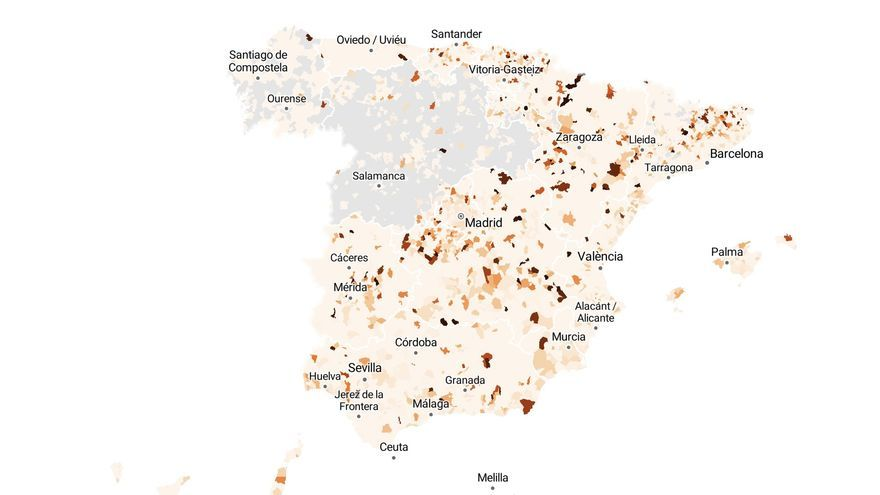 The large cities with the best incidence data are in Tenerife and Asturias, and the worst in Catalonia
