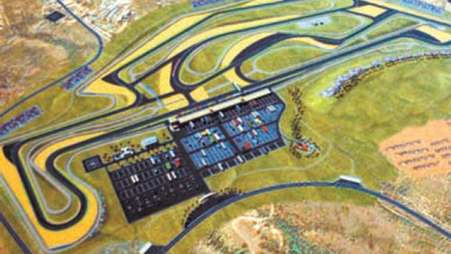 Infografía del futuro circuito de velocidad de Tenerife.